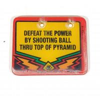 Twilight Zone Defeat the Power Sign Plastic