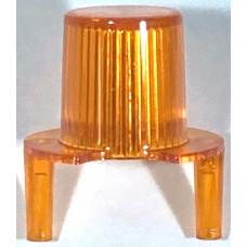 Jet Bumper Dome w/ Pegs Trans Orange