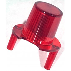 Jet Bumper Dome w/ Pegs Trans Red