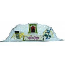 NEW ITEM!!   Addams Family Clear Backbox Cloud Topper Dome with NOS Decals