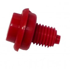 Flipper Button Assembly-Red 1 1/8""